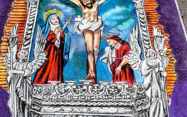 Señor de los Milagros – Traditional madonnari painting